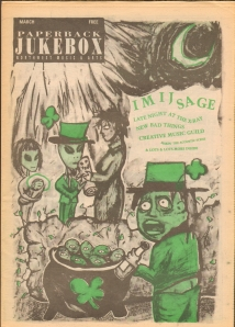 scanned image of the cover of the March 1993 issue of Paperback Jukebox contaning Susan Polk's review of Sick Burn Cut